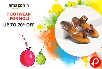 FOOTWEAR FOR HOLI | UPTO 70% OFF - AMAZON INDIA
