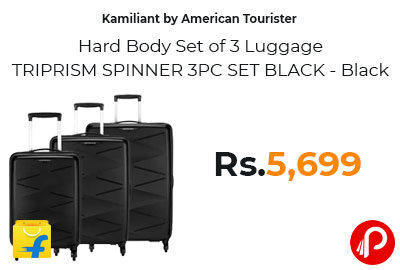 Kamiliant Hard Body Set of 3 Luggage @ 5,699 - Flipkart