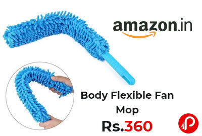 Fan Cleaning Duster Steel Body Flexible Fan Mop @ 360 - Amazon India