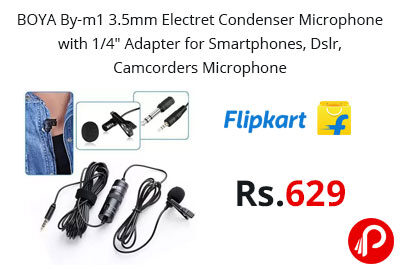 BOYA By-m1 3.5mm Electret Condenser Microphone @ 629 - Flipkart