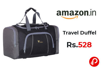 Travel Duffel Luggage Bag Black @ 528 - Amazon India
