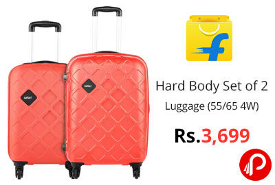 SAFARI Hard Body Set of 2 Luggage @ 3,699 - Flipkart