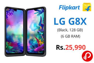 LG G8X (Black, 128 GB) (6 GB RAM) @ 25,990 - Flipkart