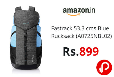 Fastrack 53.3 cms Blue Rucksack (A0725NBL02) @ 899 - Amazon India