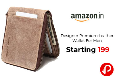 Designer Premium Leather Wallet For Men Starting 199 - Amazon India