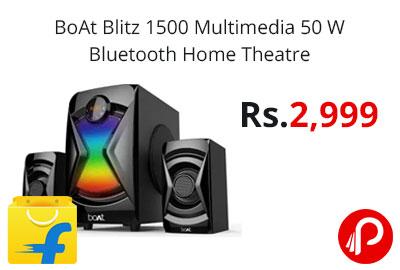 BoAt Blitz 1500 Multimedia 50 W Bluetooth Home Theatre @ 2999 - Flipkart