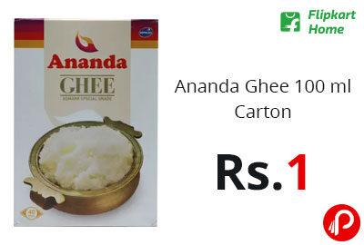 Ananda Ghee 100 ml Carton @ 1 - Flipkart Home