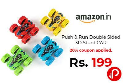 Push & Run Double Sided 3D Stunt CAR @ 199 - Amazon India