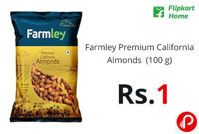Farmley Premium California Almonds (100 g) @ 1 - Flipkart Home