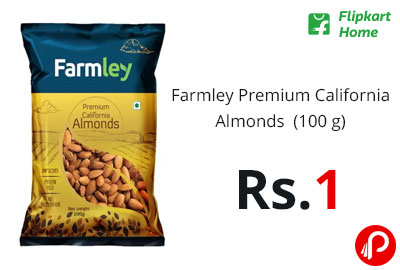Farmley Premium California Almonds (100 g) @ 1 - Flipkart Home