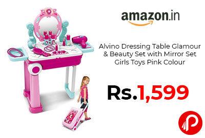 Table Glamour & Beauty Set with Mirror Set Girls Toys @ 1599 - Amazon India