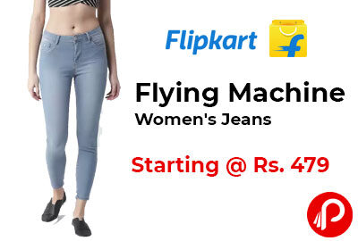 FLYING MACHINE Women Blue Jeans Starting @ 479 - Flipkart