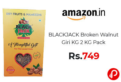 BLACKJACK Broken Walnut Giri KG 2 KG Pack @ 749 – Amazon India