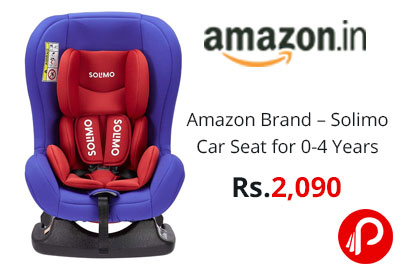 Amazon Brand – Solimo Car Seat for 0-4 Years, Red @ 2090 - Amazon India