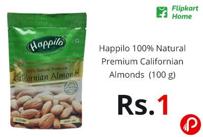 Happilo 100% Natural Premium Californian Almonds (100 g) @ 1 - Flipkart Home