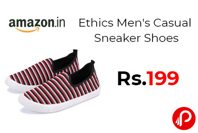 Ethics Men's Casual Sneaker Shoes @ 119 - Amazon India