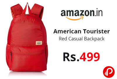 American Tourister Copa 23 Ltrs Red Casual Backpack @ 499 - Amazon India