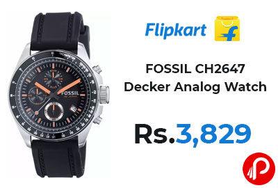 FOSSIL CH2647 Decker Analog Watch @ 3,829 - Flipkart