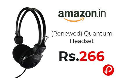 (Renewed) Quantum Headset QHM888 @ 266 - Amazon India
