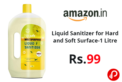 Liquid Sanitizer for Hard and Soft Surface-1 Litre @ 99 - Amazon India