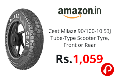 Ceat Milaze 90/100-10 53J Tube-Type Scooter Tyre @ 1059 - Amazon India