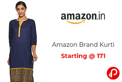 Amazon Brand Kurti Starting @ 171 - Amazon India