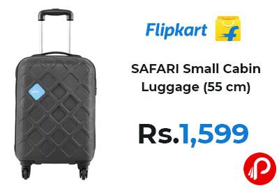 SAFARI Small Cabin Luggage (55 cm) at 1599 - Flipkart