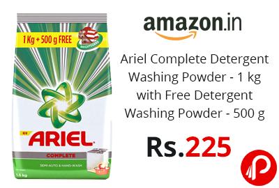 Ariel Complete Detergent Washing Powder - 1 kg with Free Detergent Washing Powder - 500 g @ 225 - Amazon India