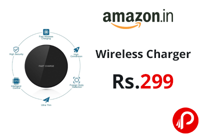 Certified Ultra-Slim Wireless Charger @ 299 - Amazon India