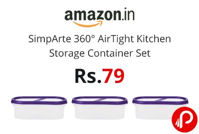 SimpArte 360° AirTight Kitchen Storage Container Set @ 79 - Amazon India