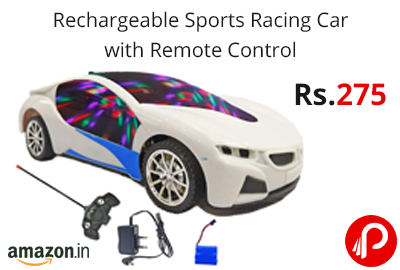 Sports Racing Car with Remote Control @ 275 - Amazon India