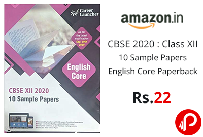 CBSE 2020 : Class XII - 10 Sample Papers @ 22 - Amazon India