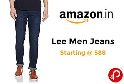 Lee Men Jeans Starting @ 588 - Amazon India