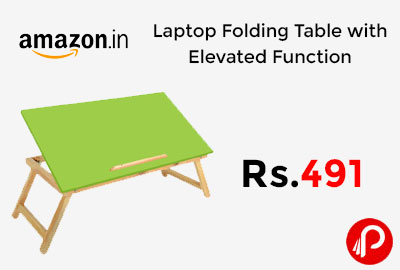 Laptop Folding Table with Elevated Function @ 491 - Amazon India