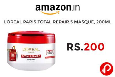 L'Oreal Paris Total Repair 5 masque, 200ml @ 200 - Amazon India