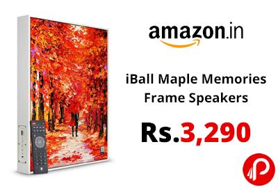 iBall Maple Memories Frame Speakers @ 3,290 - Amazon India