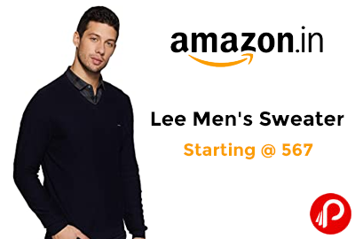 Lee Men Sweatshirt Starting @ 567 - Amazon India