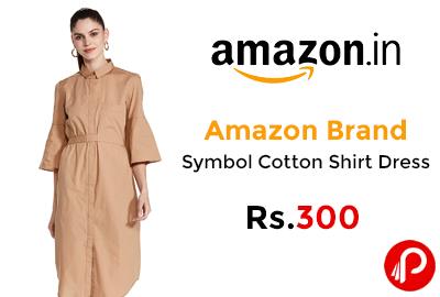 Symbol Cotton Shirt Dress @ 300 - Amazon India