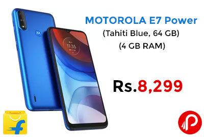 MOTOROLA E7 Power (Tahiti Blue, 64 GB) @ 8,299 - Flipkart