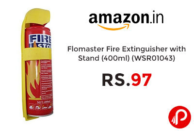 Flomaster Fire Extinguisher with Stand @ 97 - Amazon India