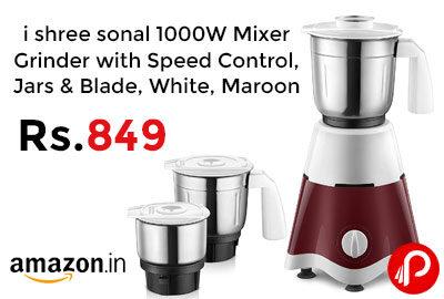 i shree sonal 1000W Mixer Grinder @ 849 - Amazon India