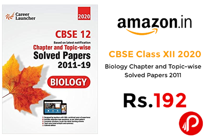 CBSE Class XII 2020 - Biology Solved Papers @ 192 - Amazon India