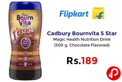 Cadbury Bournvita 5 Star Magic 500g @ 189 - Flipkart