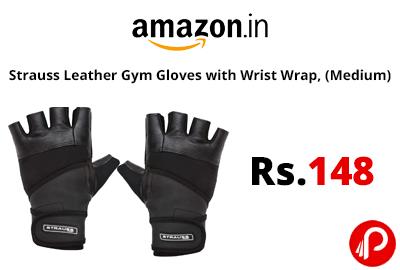 Strauss Leather Gym Gloves with Wrist Wrap @ 148 - Amazon India