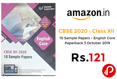 CBSE 2020 : Class XII - 10 Sample Papers @ 121 - Amazon India