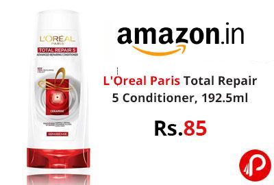 L'Oreal Paris Total Repair 5 Conditioner, 192.5ml @ 85 - Amazon India