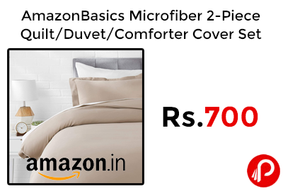AmazonBasics Microfiber 2-Piece Quilt @ 700 - Amazon India