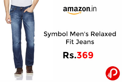 Symbol Men's Relaxed Fit Jeans @ 369 - Amazon India