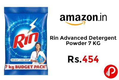Rin Advanced Detergent Powder 7KG @ 454 - Amazon India