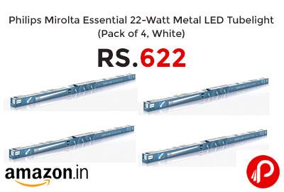 Philips 22-Watt Metal LED Tubelight (Pack of 4) @ 622 - Amazon India